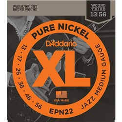 Струны для электрогитары D`Addario EPN22 XL PURE NICKEL Jazz Medium 13-55