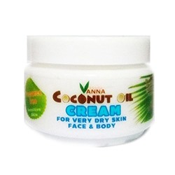 Крем с кокосовым маслом для лица и тела от Vanna 50 гр / Vanna Coconut Oil Cream For Very Dry Skin Face & Body 50 g