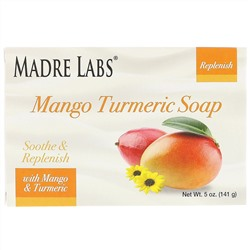 Madre Labs, Mango Turmeric Soap Bar, With Vitamin E, Shea, Avocado, Jojoba & Cocoa Butter, 5 oz (141 g)