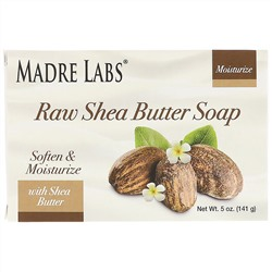 Madre Labs, Raw Shea Butter Soap Bar, with Vitamin E, Rosemary, Myrrh & Frankincense, 5 oz (141 g)